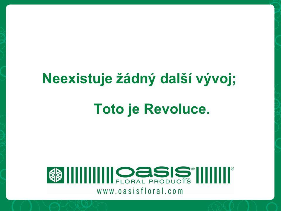 Neexistuje žádný další vývoj; Toto je Revoluce.