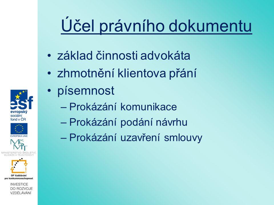 Vlastnosti textu pro splnění úkolu f.právní předpisy: - aktuální znění: zákon č.