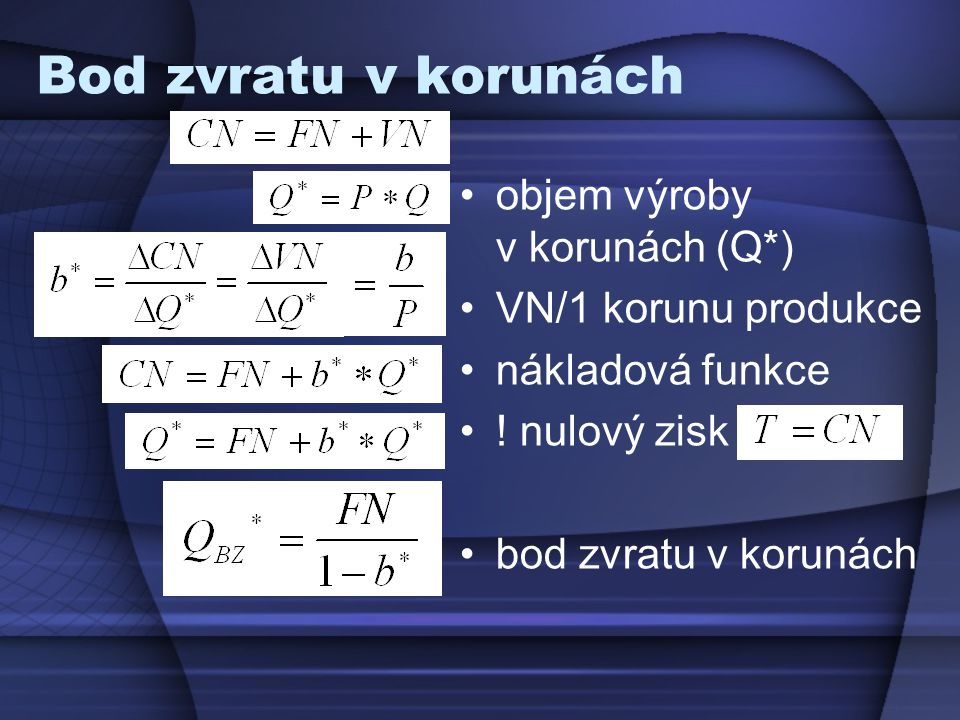 Objem výroby (Q Z ), jež zajistí určitou výši zisku (Z)