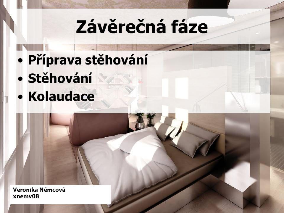 Veronika Němcová xnemv08 Závěrečná fáze Příprava stěhování Stěhování Kolaudace