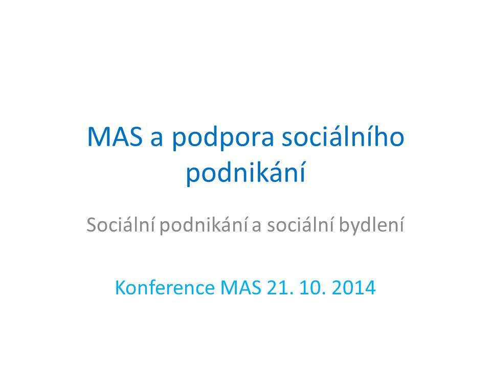 MAS a podpora sociálního podnikání Sociální podnikání a sociální bydlení Konference MAS 21.