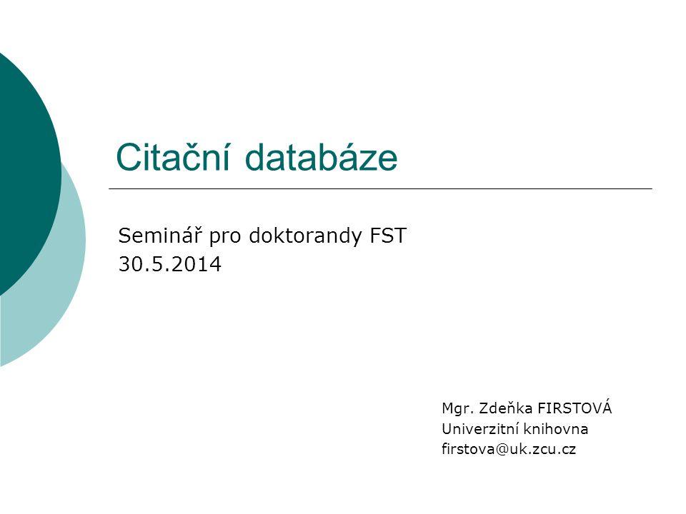Citační databáze Mgr.
