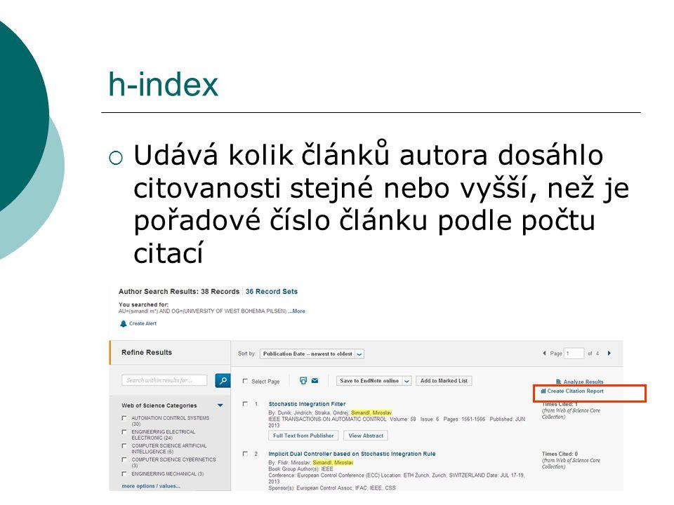 h-index = 5