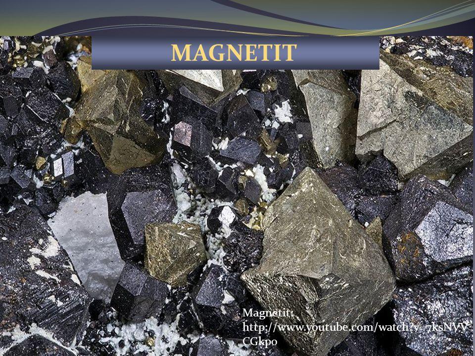 Magnetit je silně magnetický. Přitahuje tedy magnet. ŽELEZA