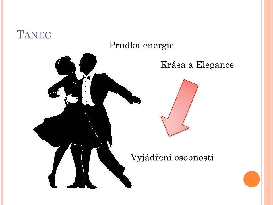 T ANEC Prudká energie Vyjádření osobnosti Krása a Elegance