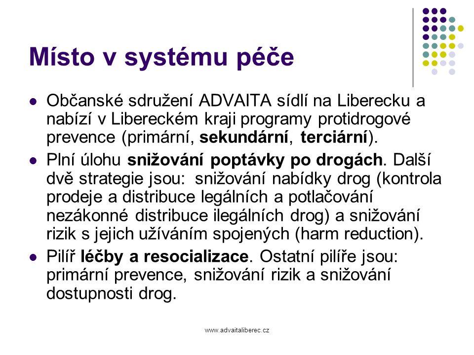www.advaitaliberec.cz Vize Všeobecně dostupná a odpovídajícím způsobem financovaná síť zařízení, která poskytují potřebné a kvalitní služby na Liberecku.
