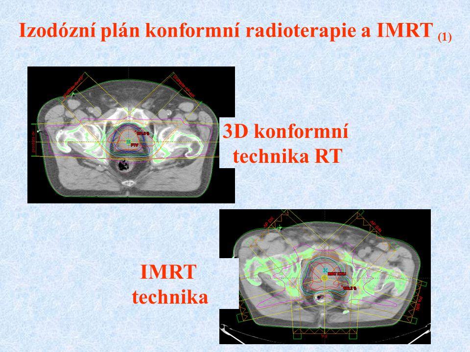 IMRT technika 3D konformní technika RT Izodózní plán konformní radioterapie a IMRT (1)