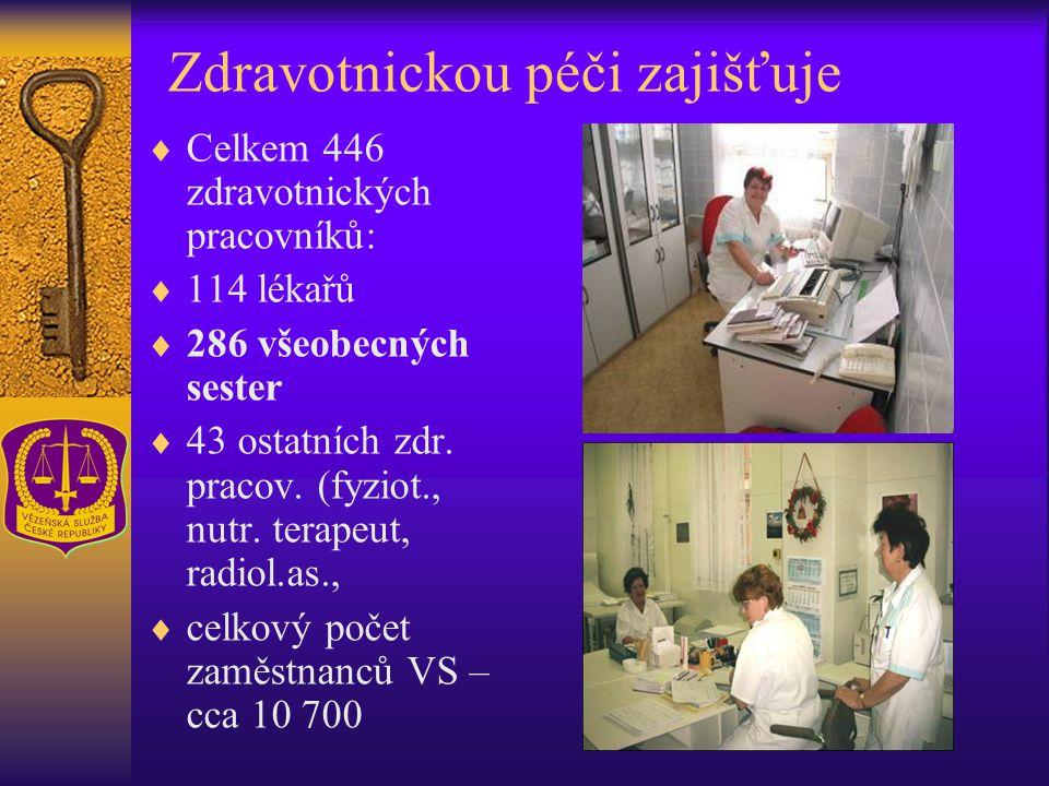 Zdravotnickou péči zajišťuje  Celkem 446 zdravotnických pracovníků:  114 lékařů  286 všeobecných sester  43 ostatních zdr. pracov. (fyziot., nutr.