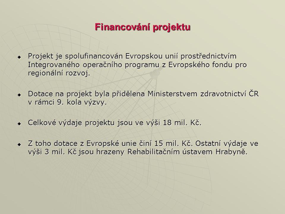 Financování projektu  Projekt je spolufinancován Evropskou unií prostřednictvím Integrovaného operačního programu z Evropského fondu pro regionální rozvoj.