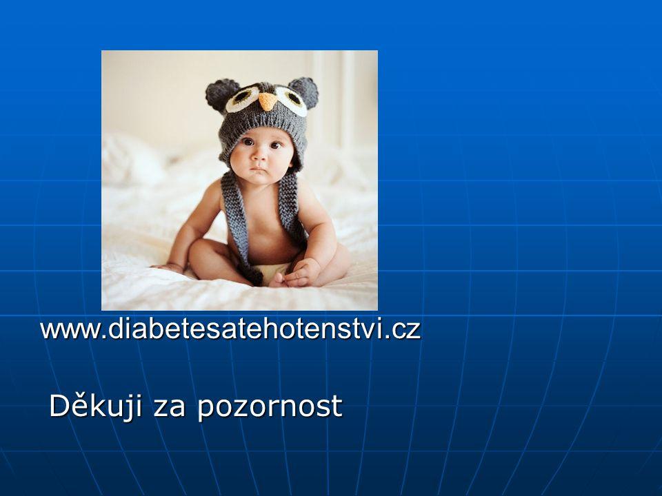 www.diabetesatehotenstvi.cz Děkuji za pozornost Děkuji za pozornost