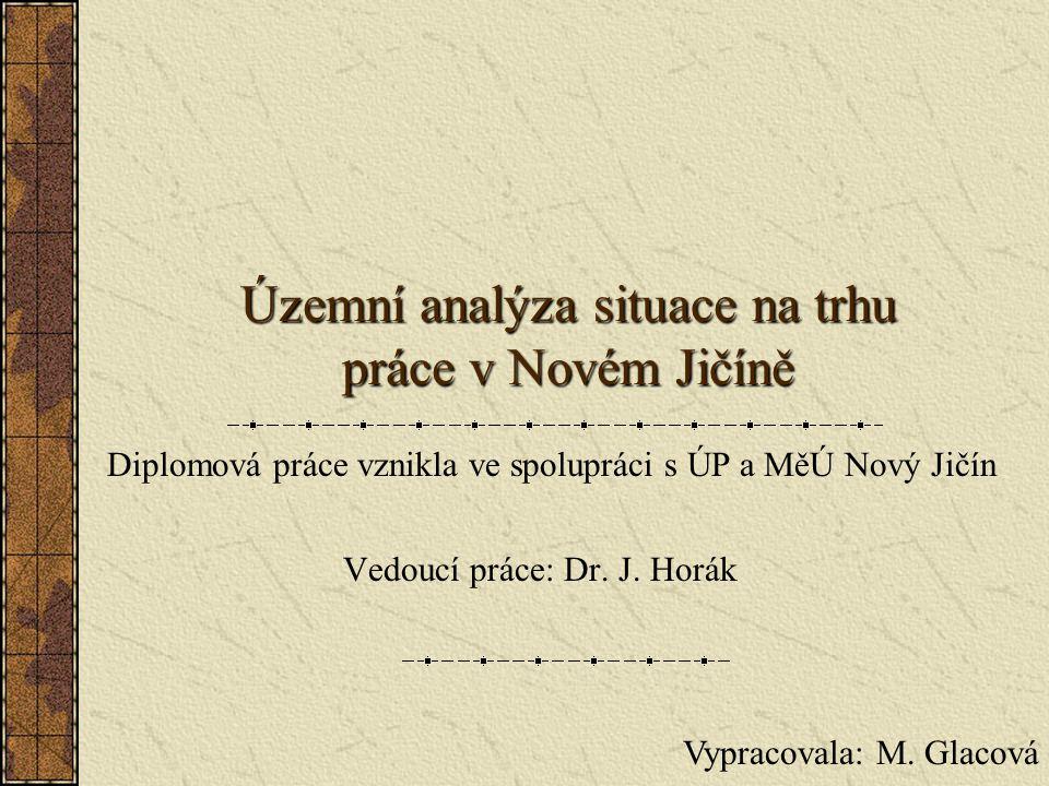 Územní analýza situace na trhu práce v Novém Jičíně Vedoucí práce: Dr.