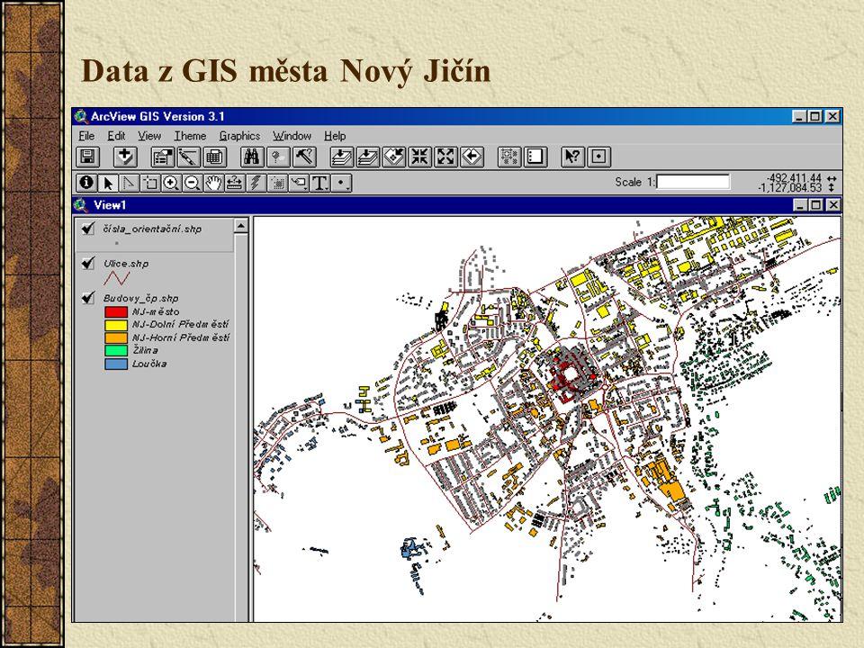 Data z GIS města Nový Jičín