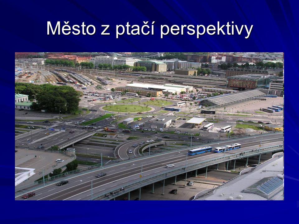 Město z ptačí perspektivy