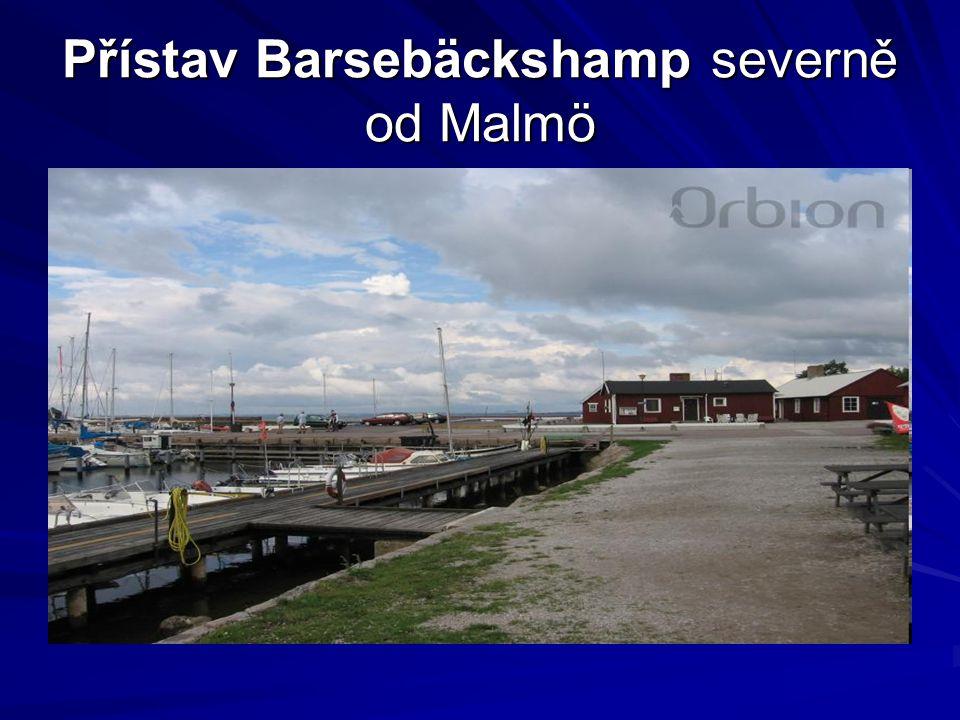 Přístav Barsebäckshamp severně od Malmö