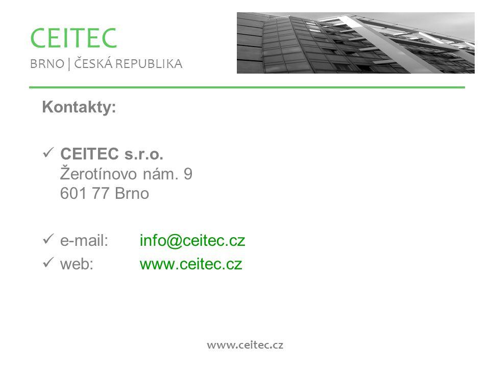 www.ceitec.cz CEITEC BRNO | ČESKÁ REPUBLIKA Kontakty: CEITEC s.r.o.