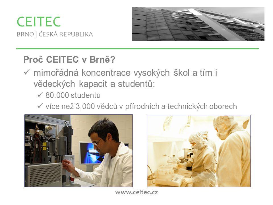 www.ceitec.cz Proč CEITEC v Brně.