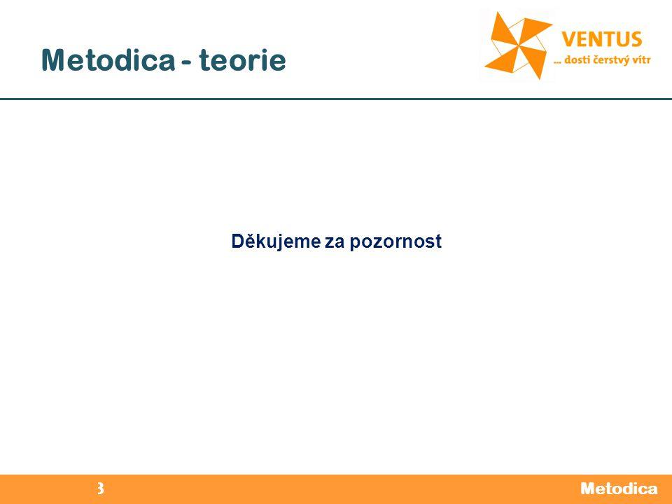 2012 / 2013 Metodica - teorie Metodica Děkujeme za pozornost