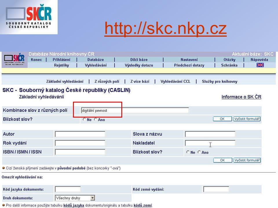 Seminář ke koncepci SK ČR 30.11.2006 http://skc.nkp.cz