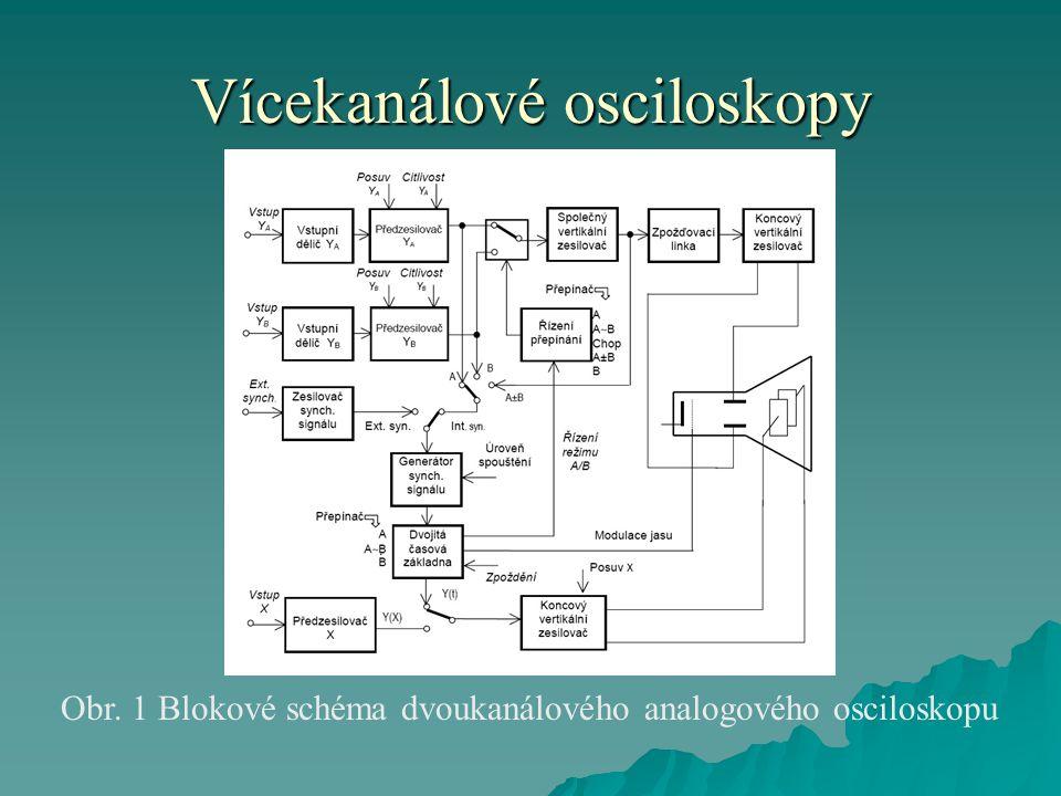 Vícekanálové osciloskopy  DVOUKANÁLOVÉ OSCILOSKOPY patří k často používaným osciloskopům.