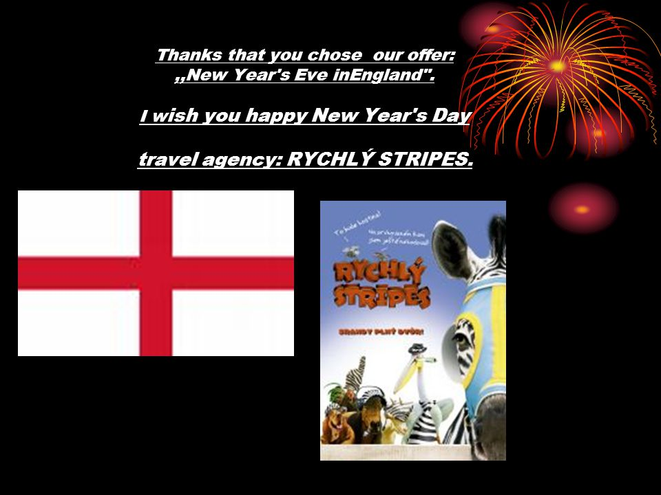 Thanks that you chose our offer:,,New Year's Eve inEngland
