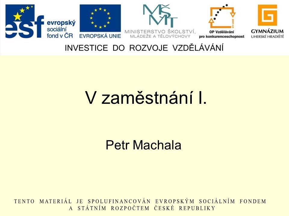 V zaměstnání I. Petr Machala