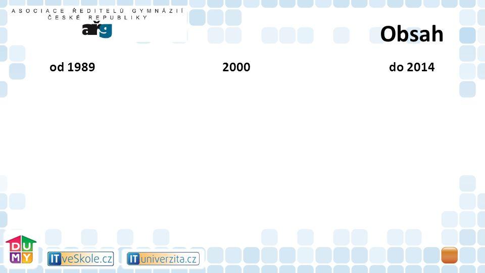 Obsah od 1989 2000do 2014 Školské úřady Kraje