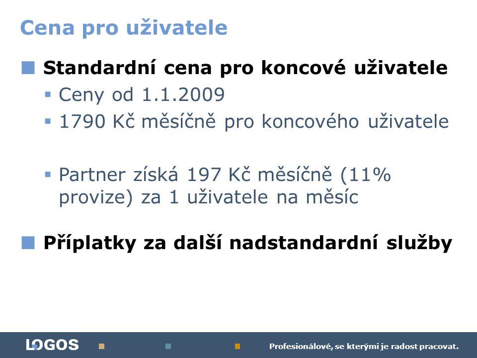 Profesionálové, se kterými je radost pracovat. ■ Standardní cena pro koncové uživatele  Ceny od 1.1.2009  1790 Kč měsíčně pro koncového uživatele 