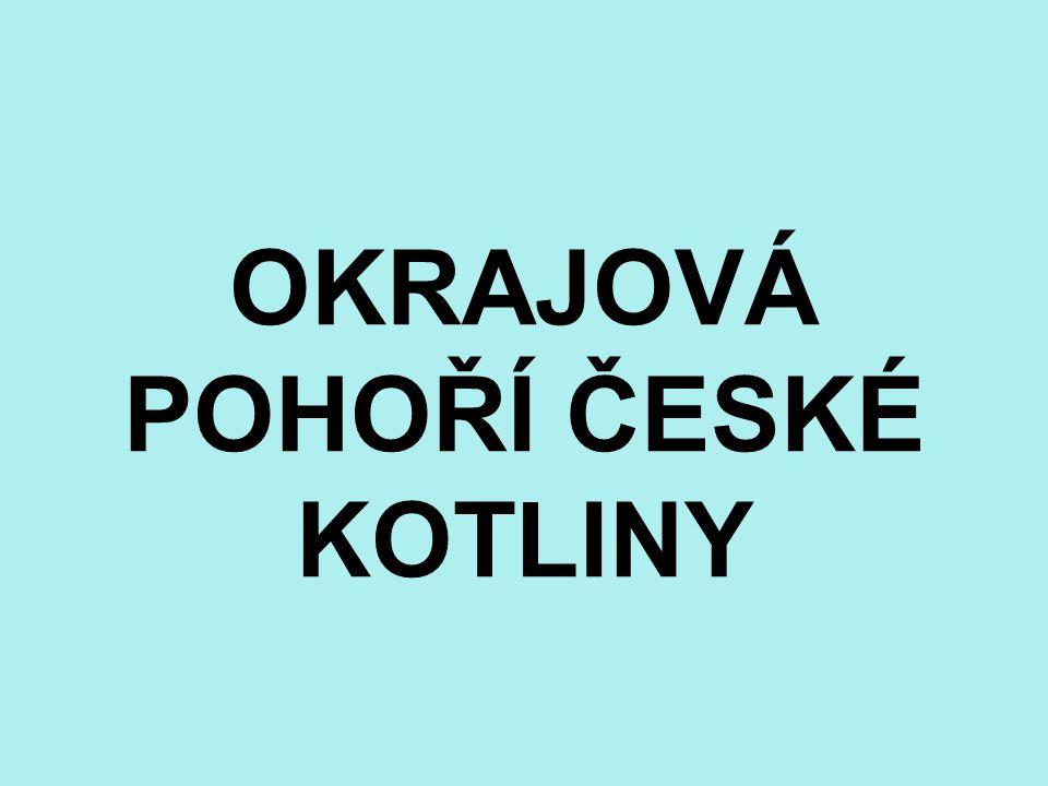 Téma: Okrajová pohoří České vysočiny - 8.ročník Použitý software: držitel licence - ZŠ J.