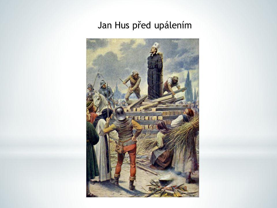 Jan Hus před upálením