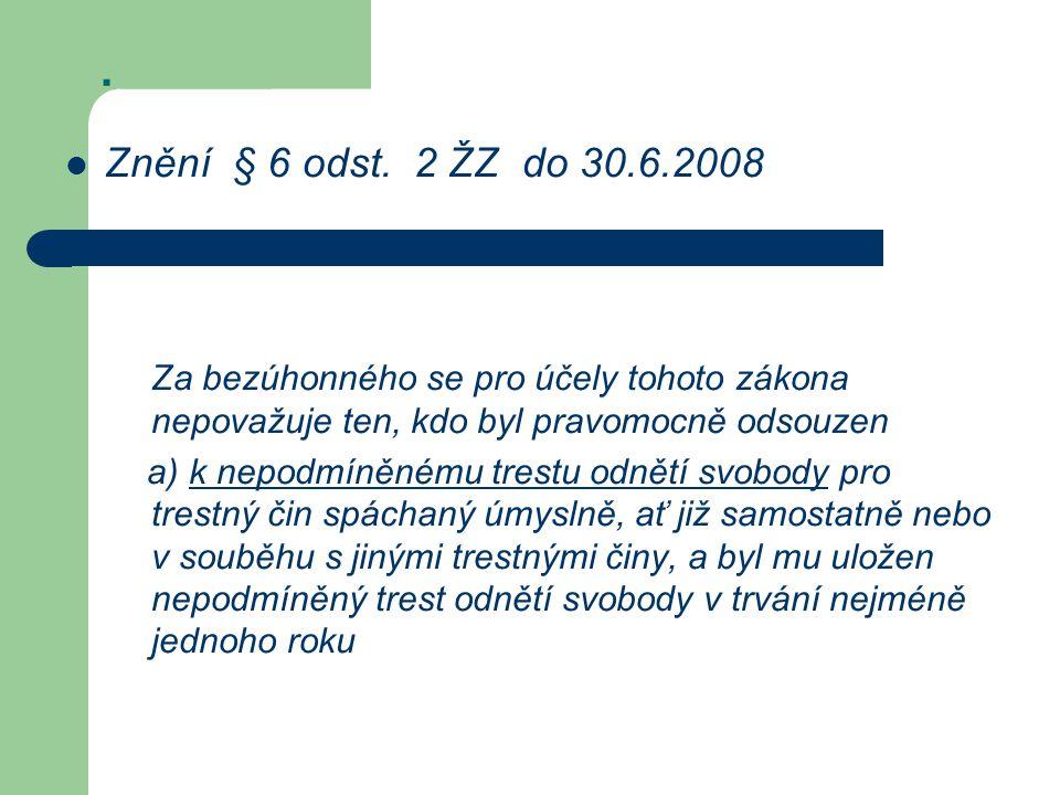 Znění § 6 odst.