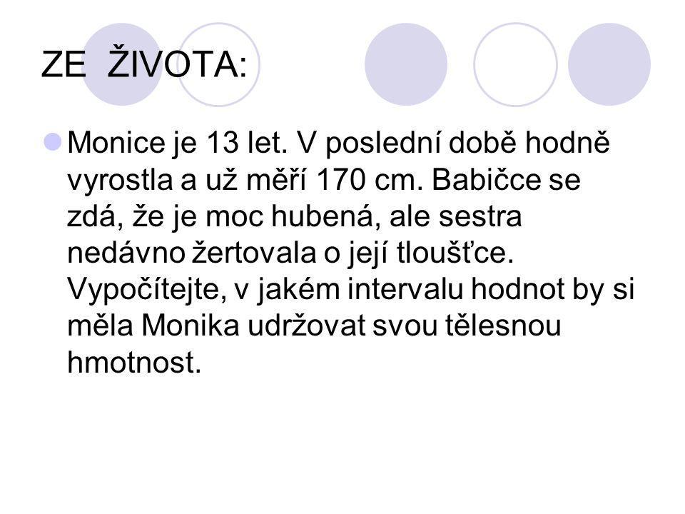 ZE ŽIVOTA: Monice je 13 let. V poslední době hodně vyrostla a už měří 170 cm. Babičce se zdá, že je moc hubená, ale sestra nedávno žertovala o její tl