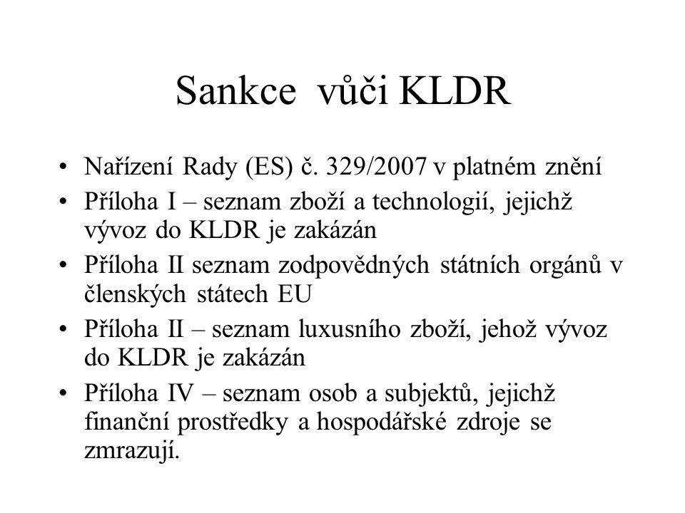 Sankce vůči KLDR Nařízení Rady (ES) č.