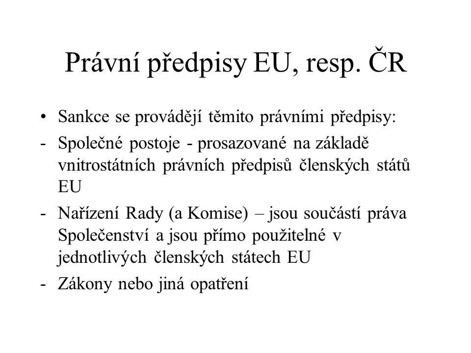 Právní předpisy EU, resp.