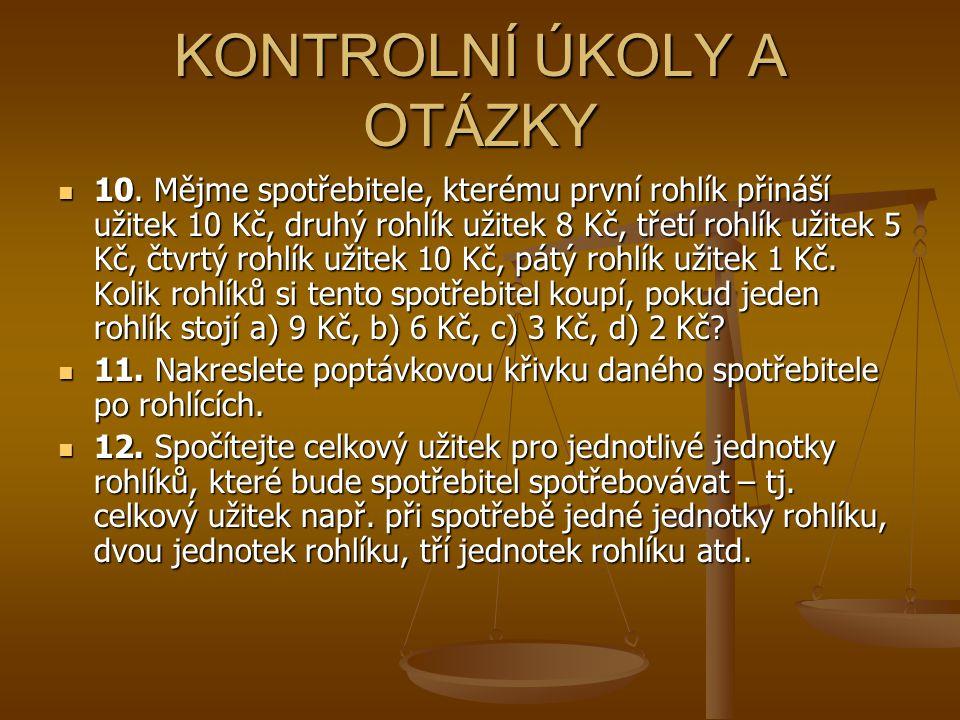 KONTROLNÍ ÚKOLY A OTÁZKY 10.
