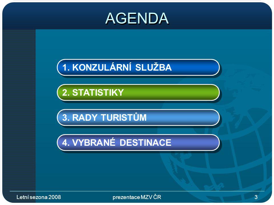 Letní sezona 2008prezentace MZV ČR3 AGENDA 1. KONZULÁRNÍ SLUŽBA 2.