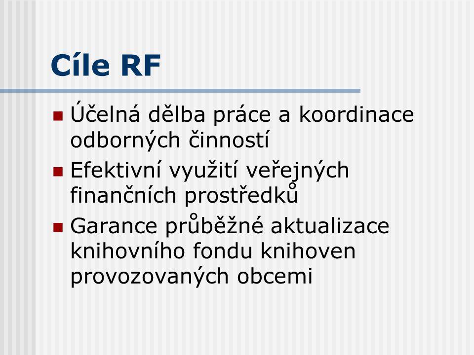 Cíle RF Zajištění kvality a kontinuity veřejných a informačních služeb v návaznosti na informační potřeby uživatelů Odstranění nežádoucích diferencí v