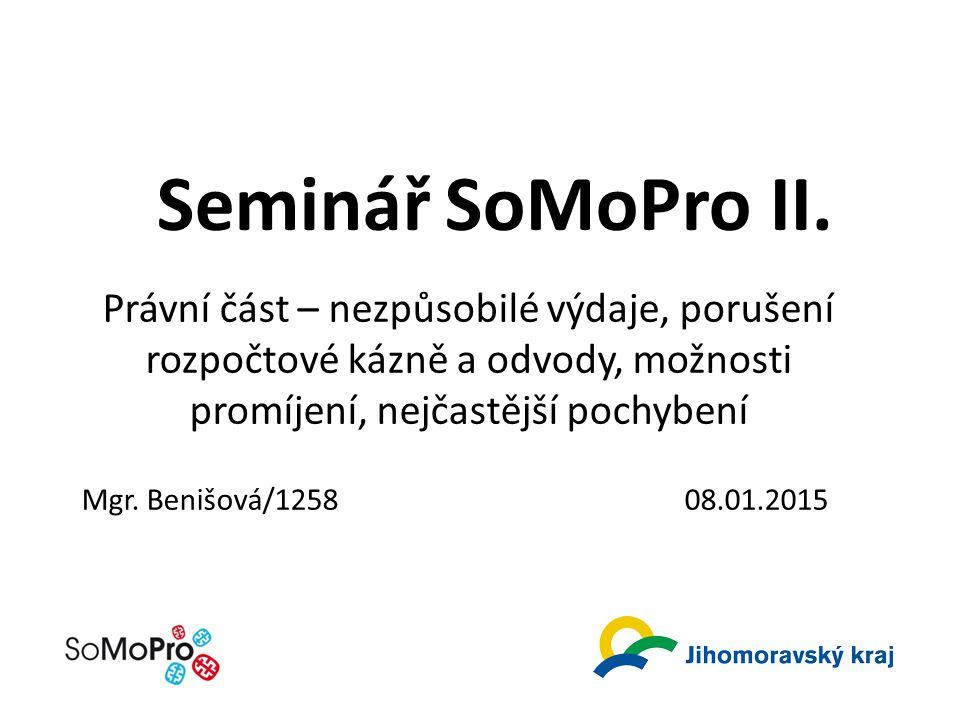 Seminář SoMoPro II.