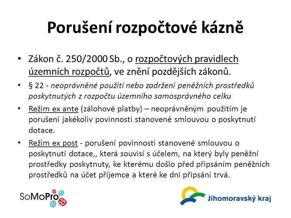 Porušení rozpočtové kázně Zákon č.
