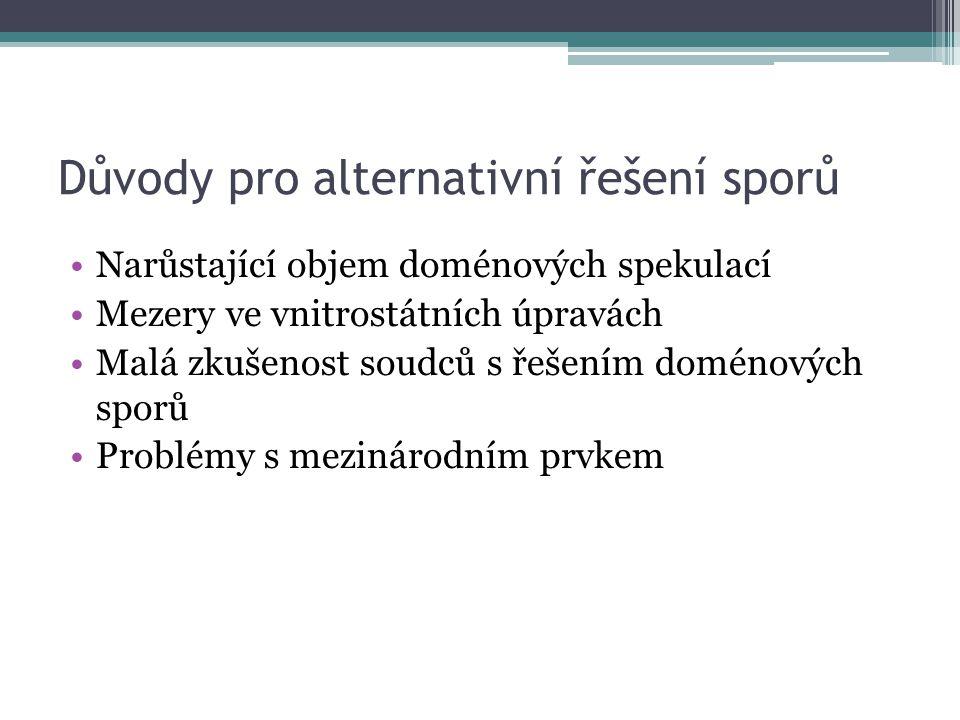 Procedura (.eu) 1.Podání žaloby k rozhodčí instituci 2.