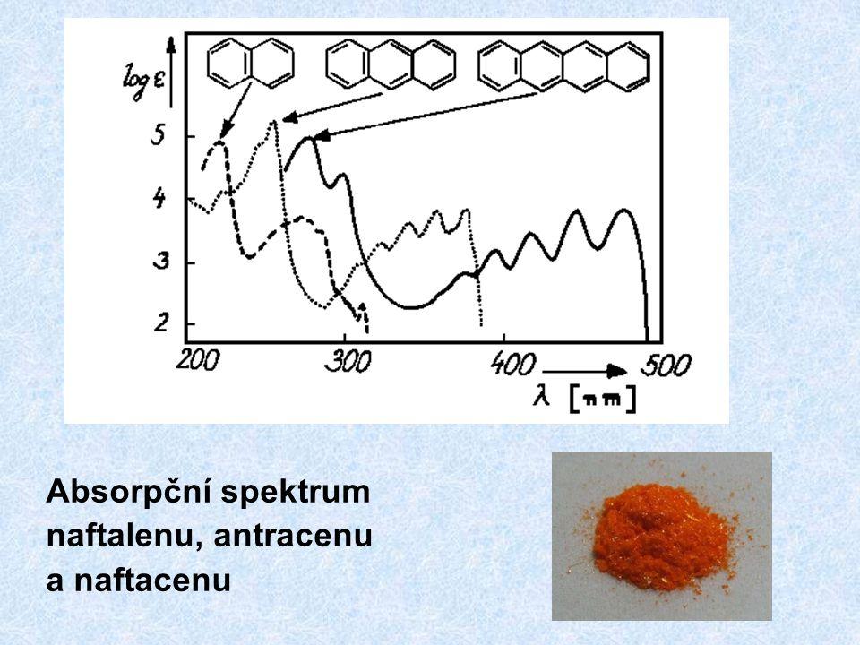 Absorpční spektrum naftalenu, antracenu a naftacenu