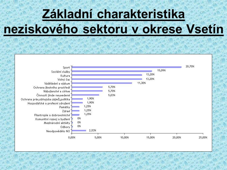 Základní charakteristika neziskového sektoru v okrese Vsetín