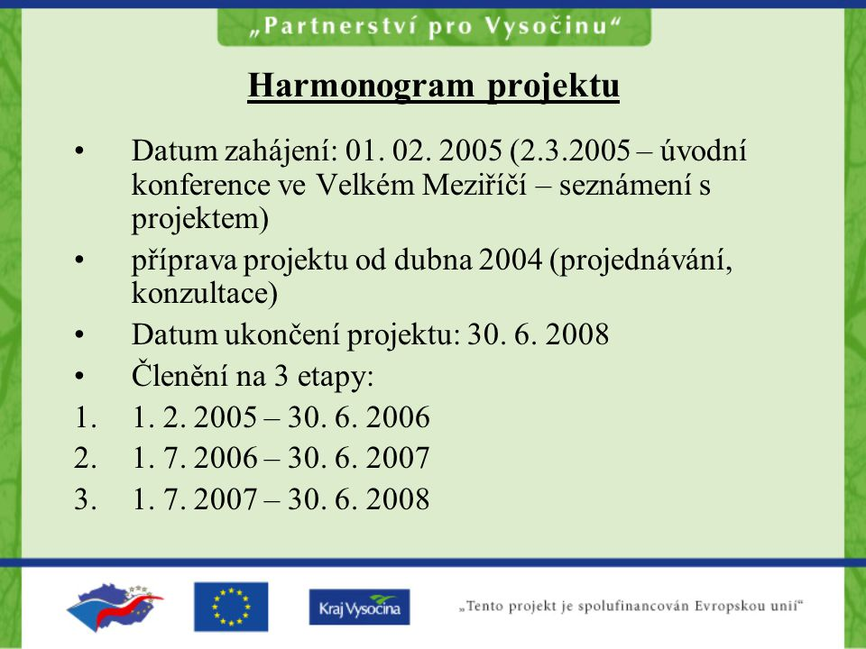 Harmonogram projektu Datum zahájení: 01. 02.
