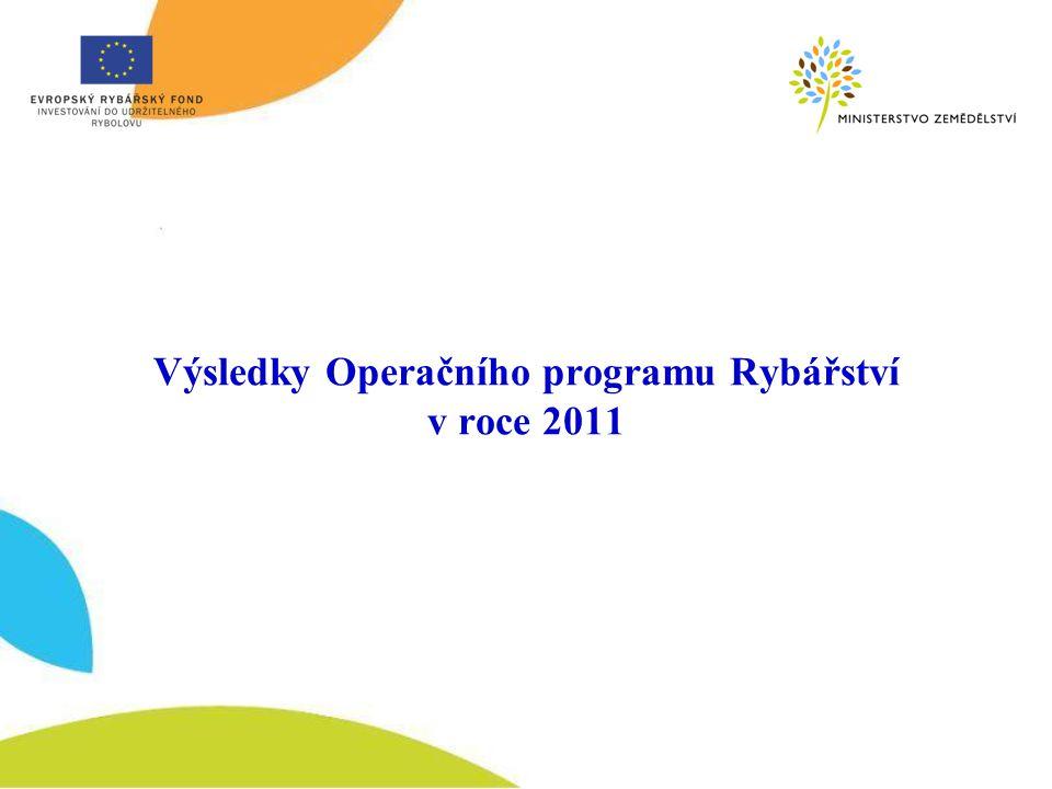 Výsledky Operačního programu Rybářství v roce 2011
