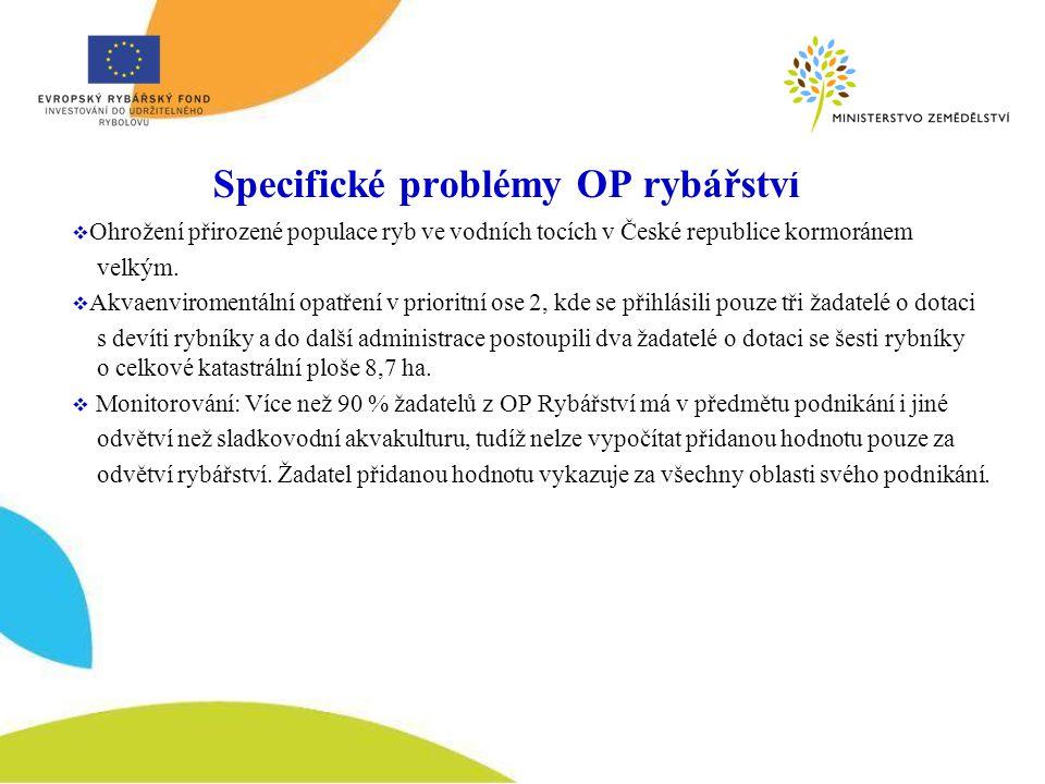 Specifické problémy OP rybářství  Ohrožení přirozené populace ryb ve vodních tocích v České republice kormoránem velkým.