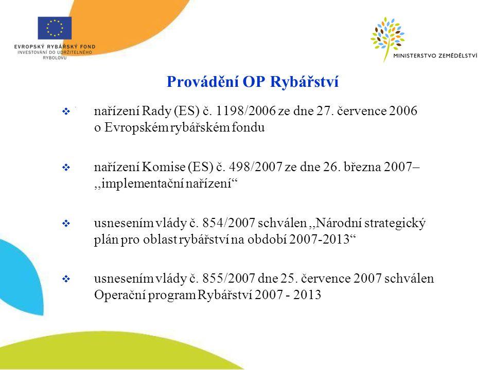 Provádění OP Rybářství  nařízení Rady (ES) č. 1198/2006 ze dne 27.