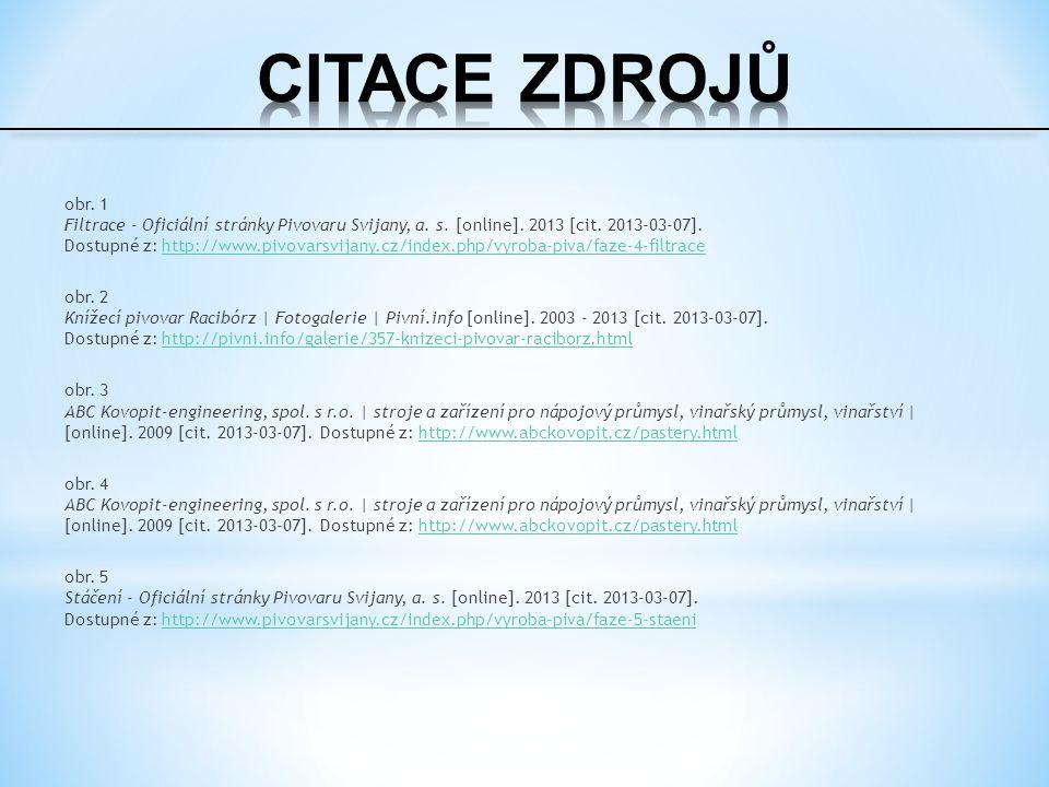 obr. 1 Filtrace - Oficiální stránky Pivovaru Svijany, a.