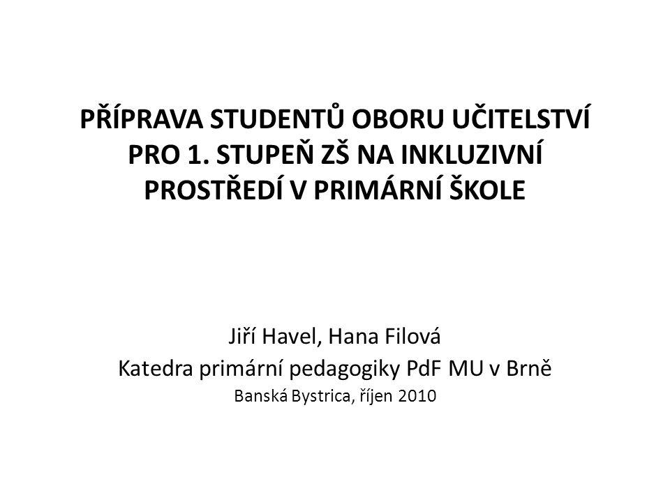 Na úvod: Letošní rok je již čtvrtým rokem řešení výzkumného záměru PdF MU č.