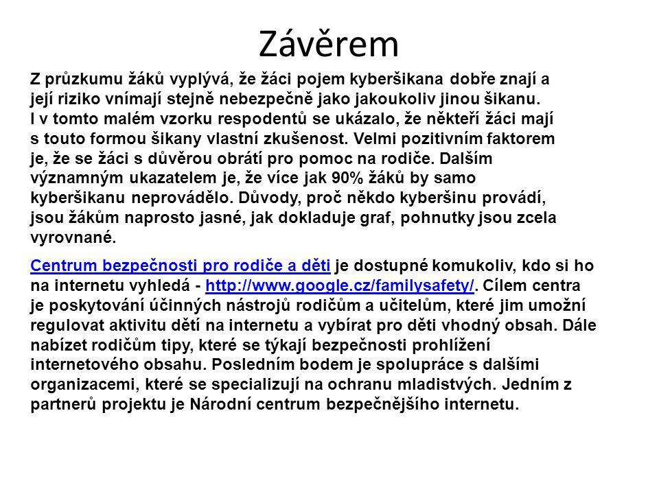 Závěrem Centrum bezpečnosti pro rodiče a dětiCentrum bezpečnosti pro rodiče a děti je dostupné komukoliv, kdo si ho na internetu vyhledá - http://www.google.cz/familysafety/.