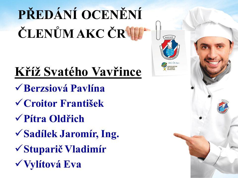 PŘEDÁNÍ OCENĚNÍ ČLENŮM AKC ČR Čestná uznání Za aktivní spolupráci se Starou Gardou - Senior Klubem AKC ČR Trsek Rudolf