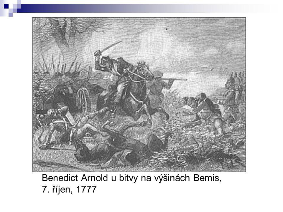 Benedict Arnold u bitvy na výšinách Bemis, 7. říjen, 1777